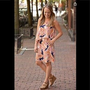 J Jill Paisley Print Rayon Shift Dress